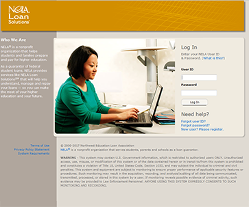 Image of NELA Loan Solutions homepage.
